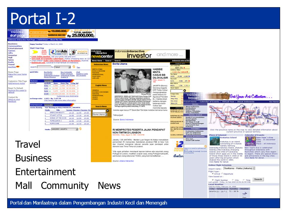 Portal I-2 Travel Business Entertainment Mall Community News