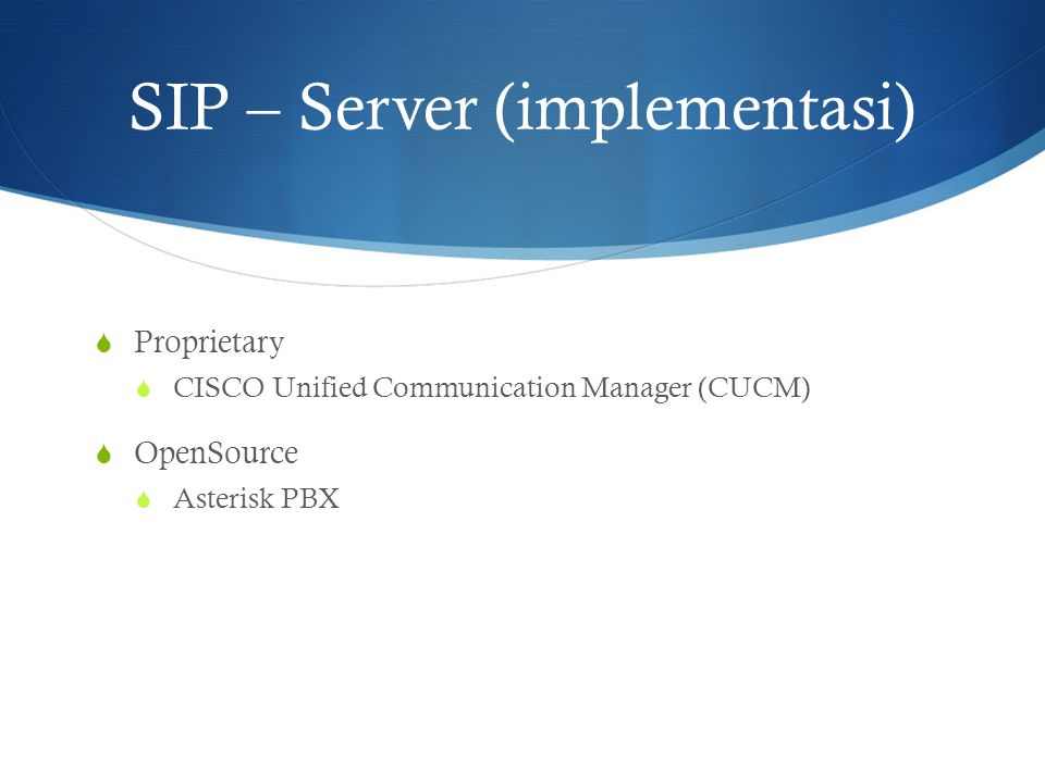 SIP – Server (implementasi)