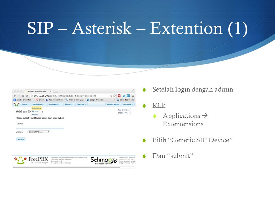 SIP – Asterisk – Extention (1)