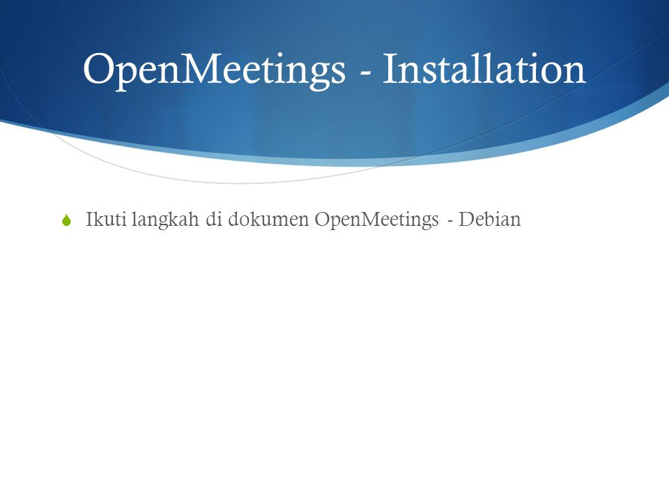 OpenMeetings - Installation