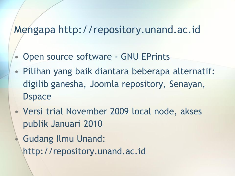 Mengapa http://repository.unand.ac.id
