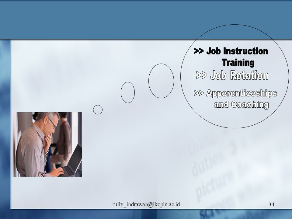 >> Job Instruction Training