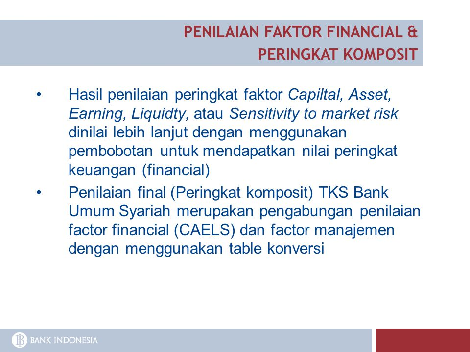 PENILAIAN FAKTOR FINANCIAL &