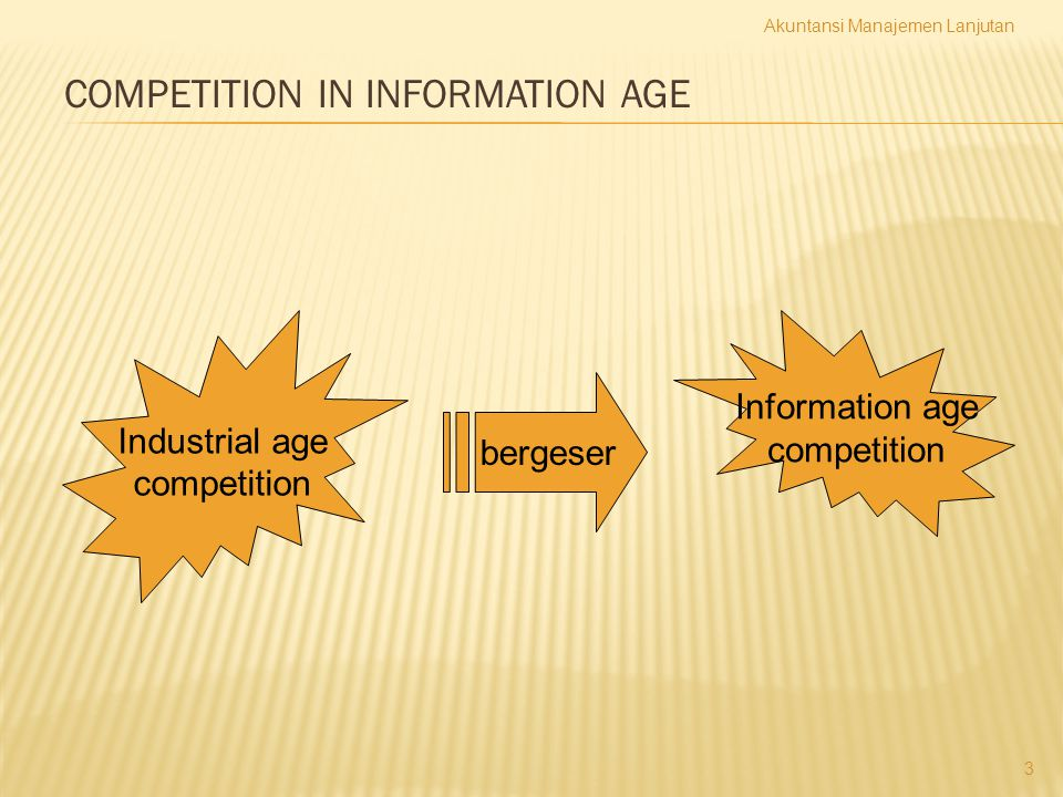 COMPETITION IN INFORMATION AGE
