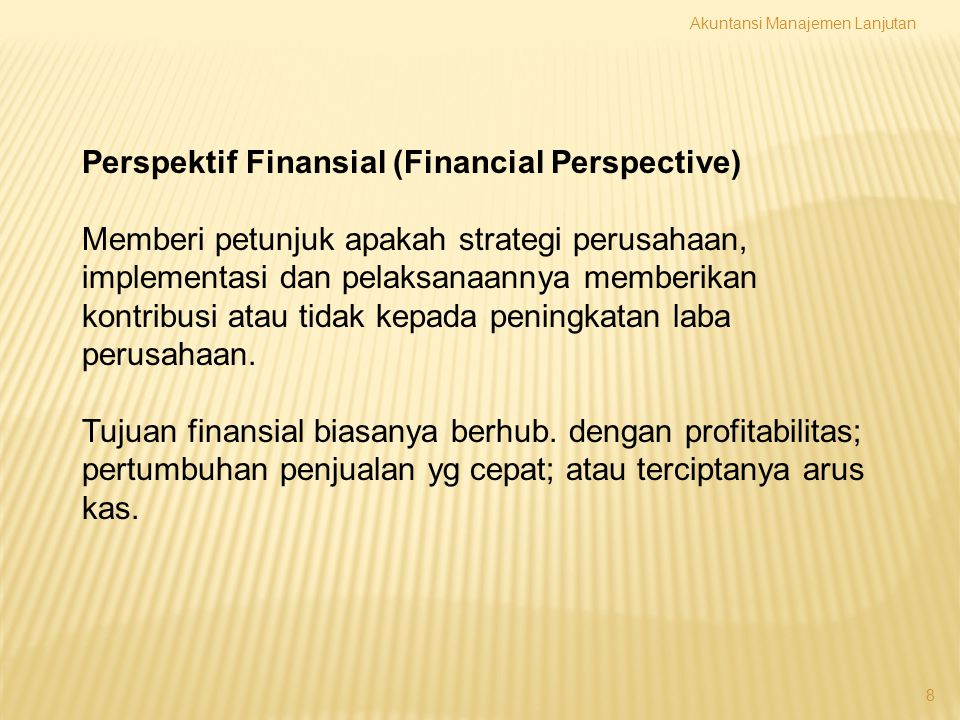 Perspektif Finansial (Financial Perspective)