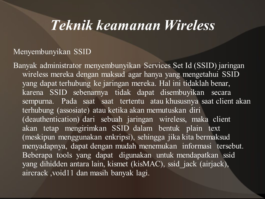 Teknik keamanan Wireless