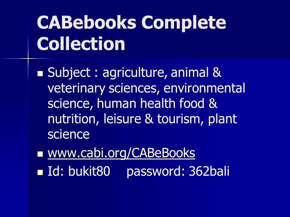 CABebooks Complete Collection
