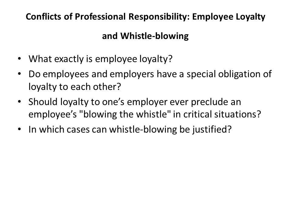 What exactly is employee loyalty
