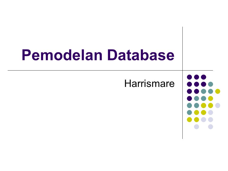 Pemodelan Database Harrismare