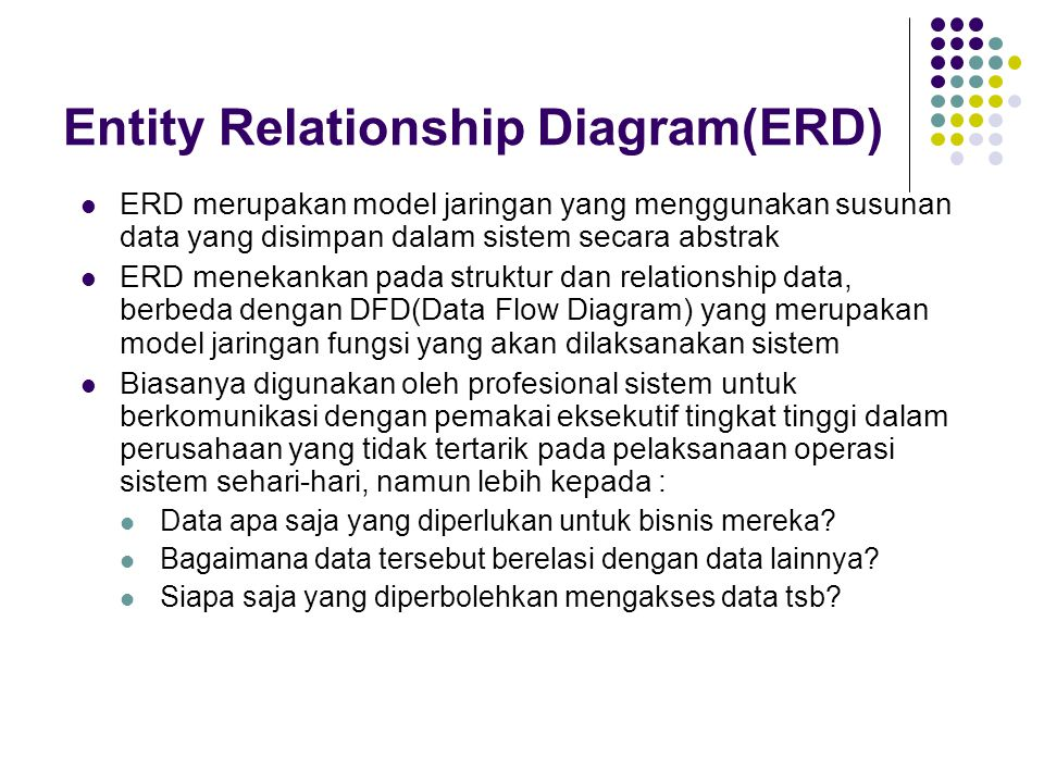 Entity Relationship Diagram(ERD)