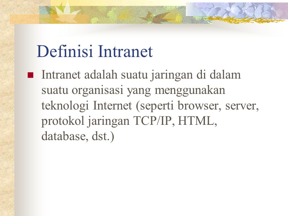 Definisi Intranet