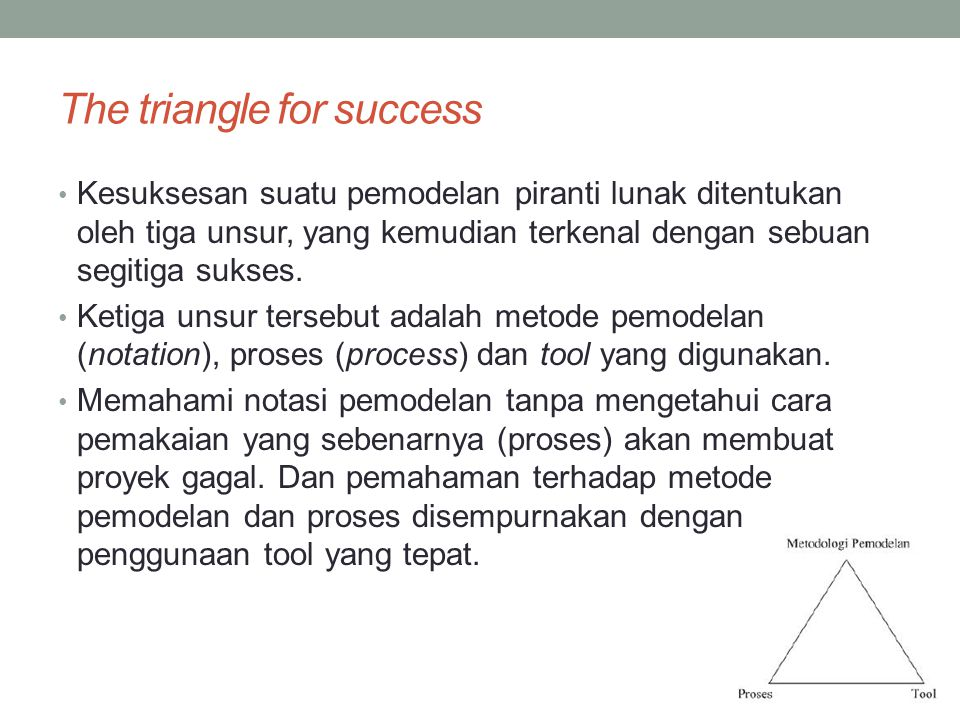 The triangle for success