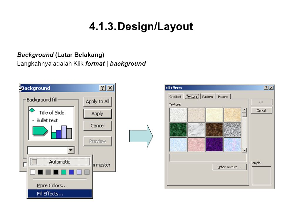 Design/Layout Background (Latar Belakang)