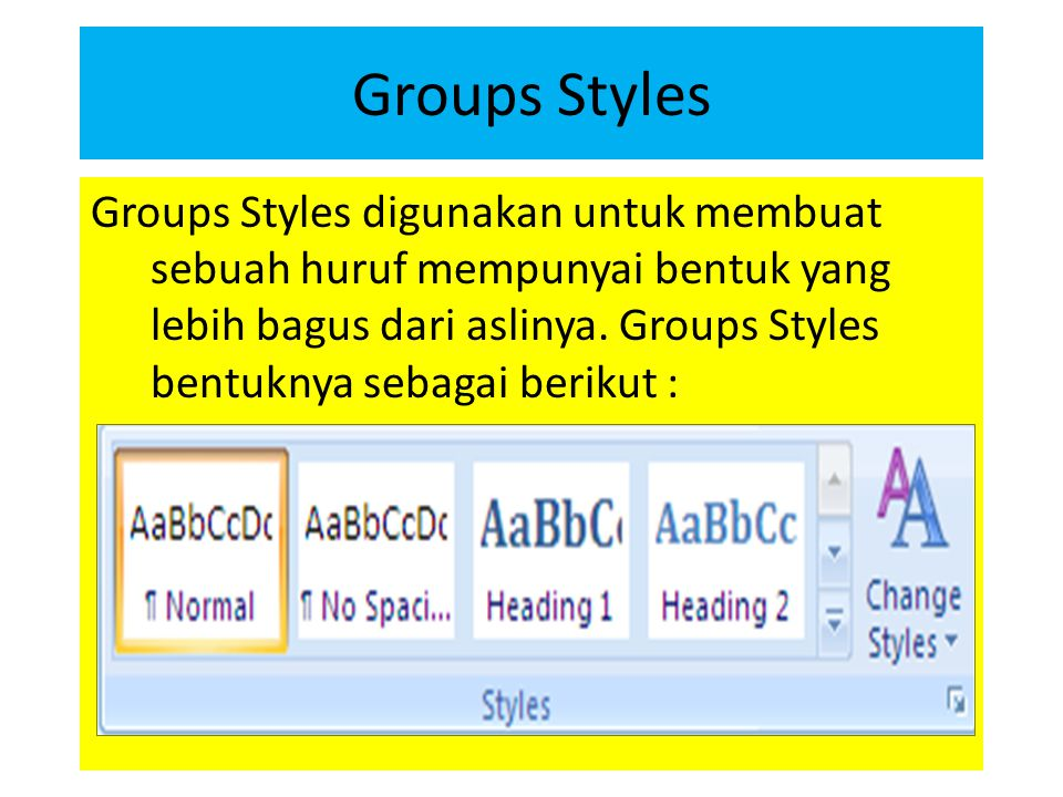 Groups Styles