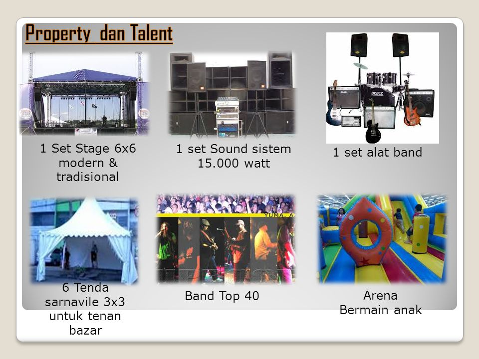 Property dan Talent 1 Set Stage 6x6 modern & tradisional