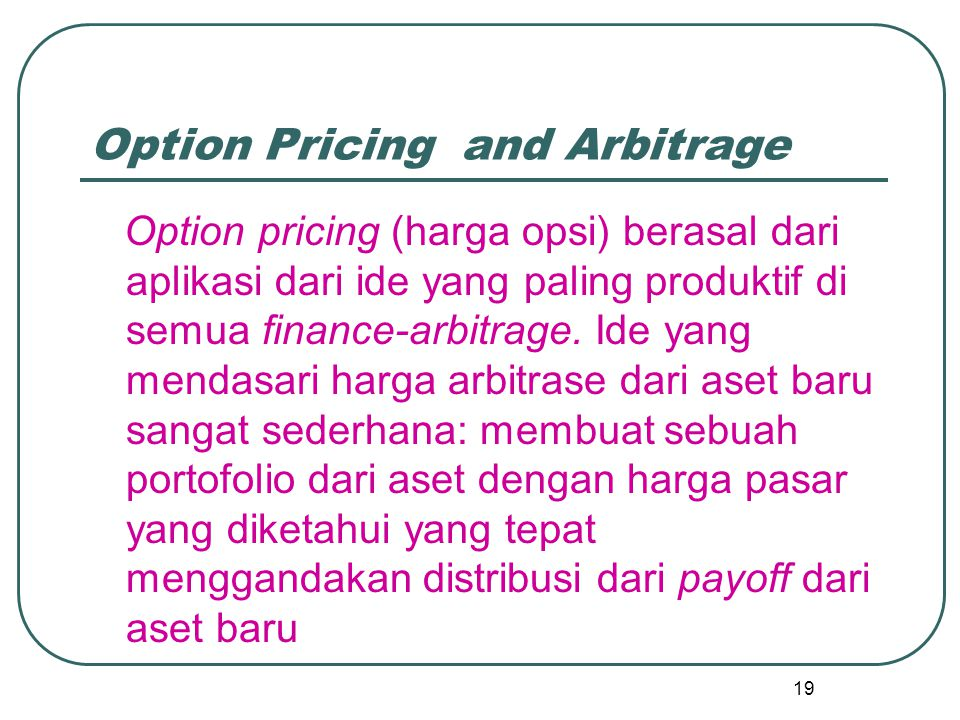 Option Pricing and Arbitrage