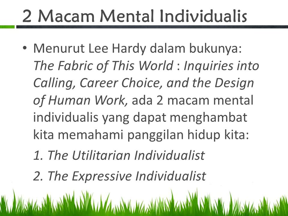 2 Macam Mental Individualis