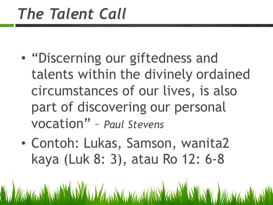 The Talent Call