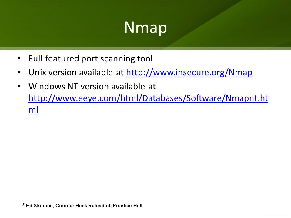 Nmap Full-featured port scanning tool