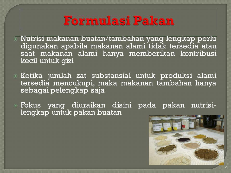 Pakan Ikan Dan Suplemennya Ppt Download