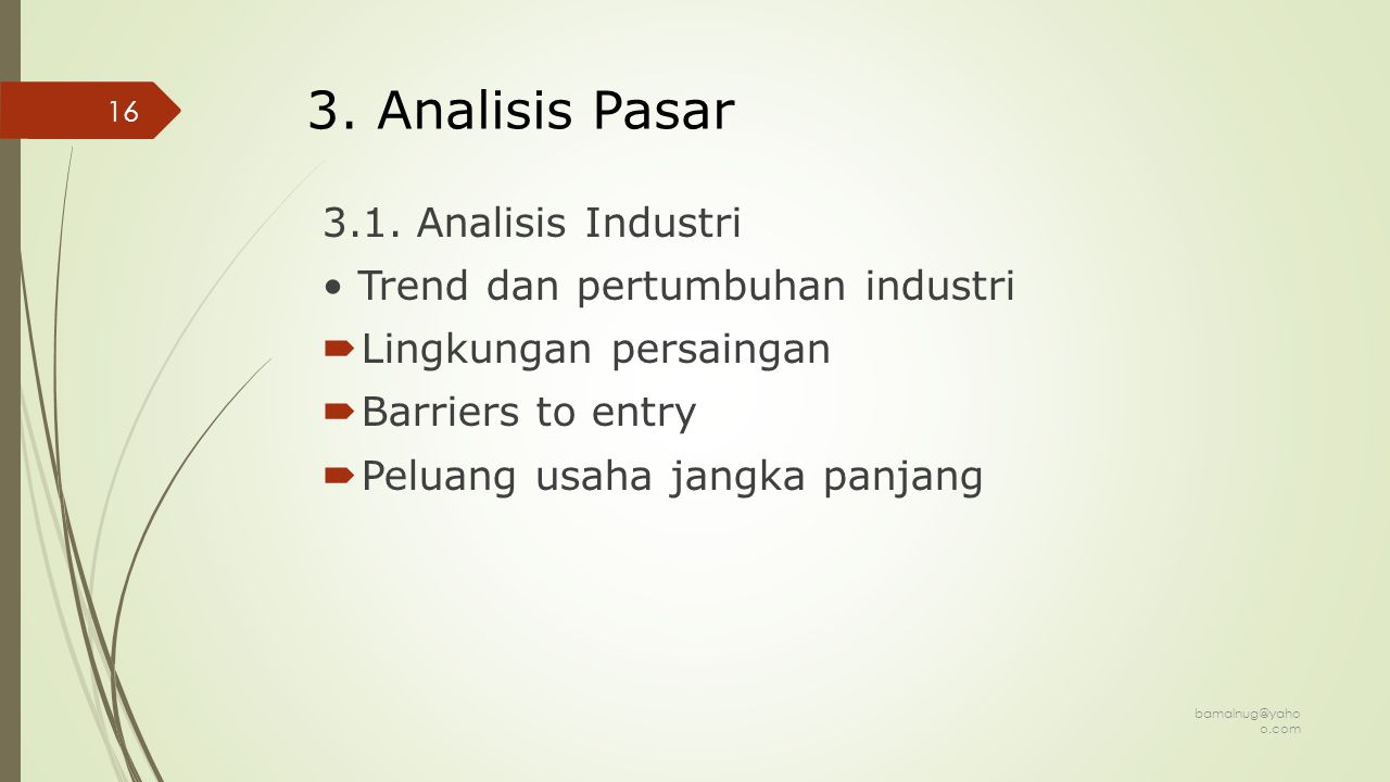 3. Analisis Pasar 3.1. Analisis Industri