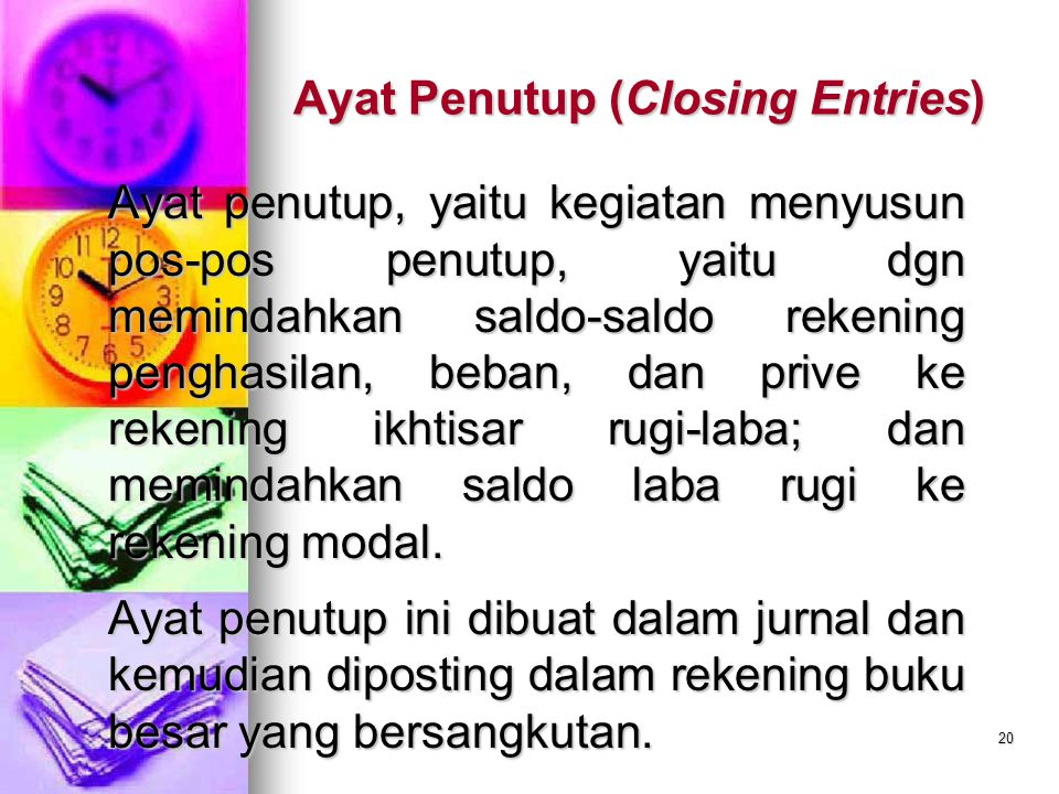 Ayat Penutup (Closing Entries)