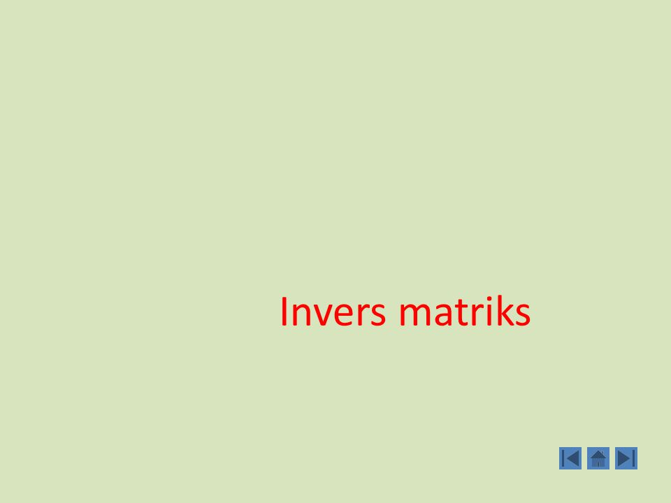 Invers matriks