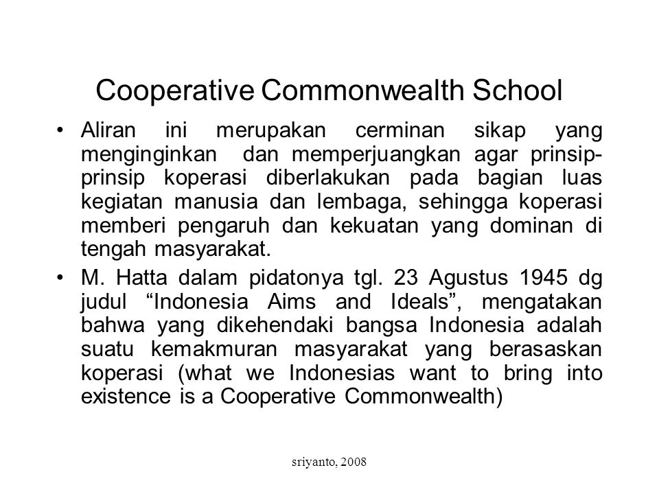 Cooperative Commonwealth School