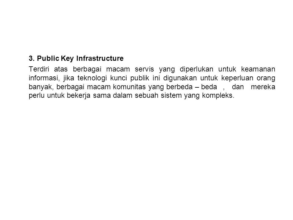 3. Public Key Infrastructure