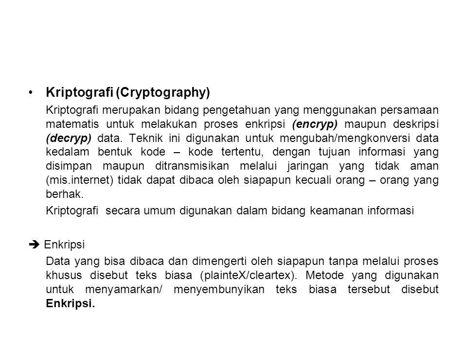 Kriptografi (Cryptography)