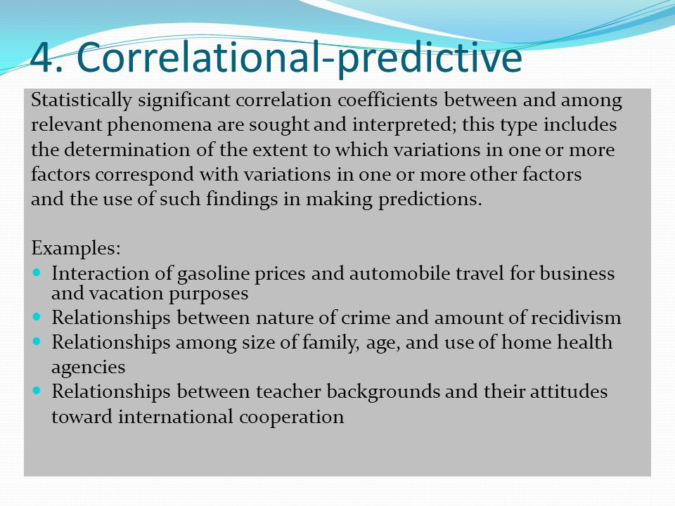 4. Correlational-predictive