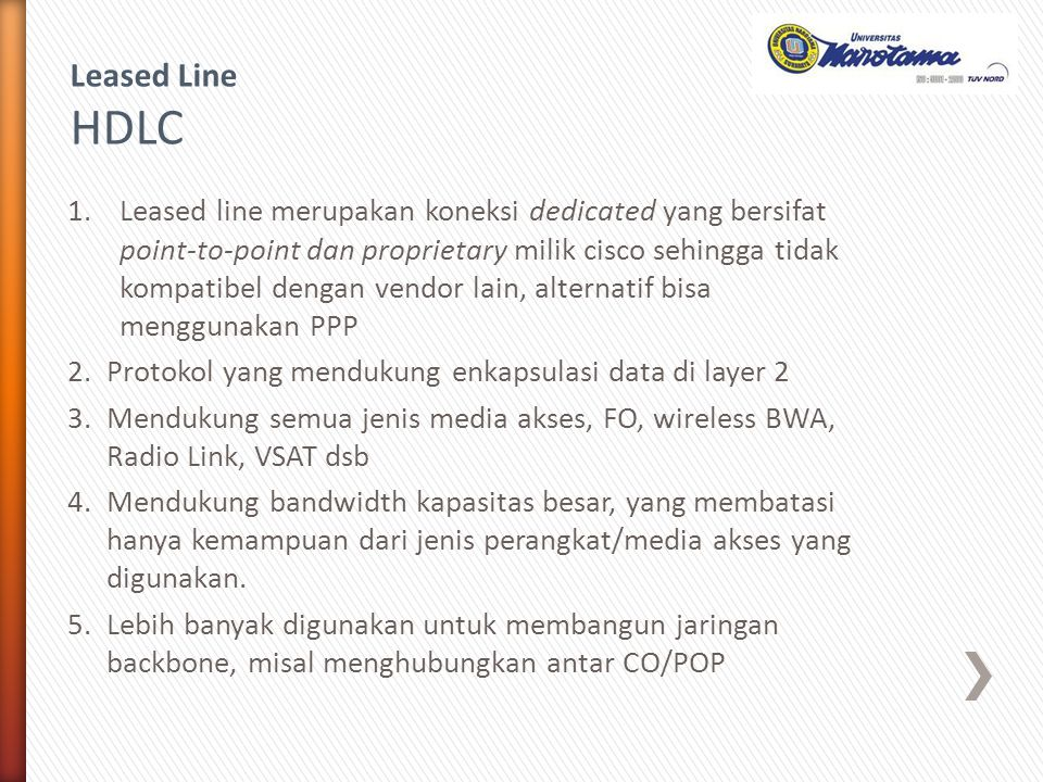 Leased Line HDLC.