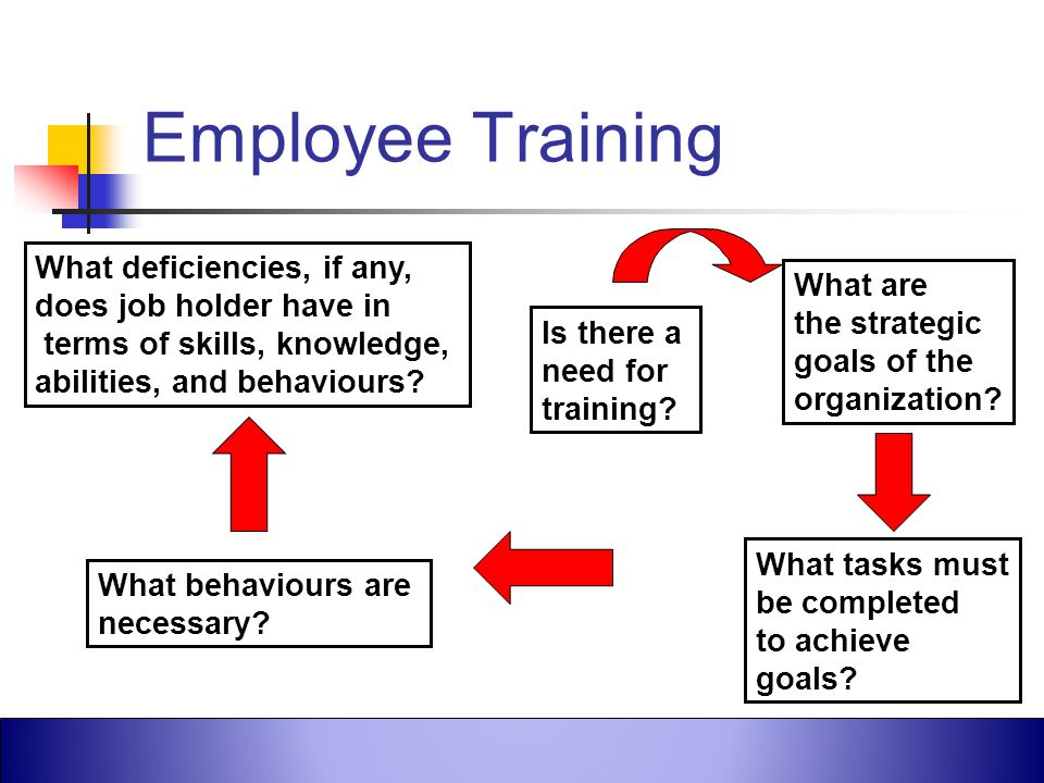 Employee Training What deficiencies, if any, does job holder have in