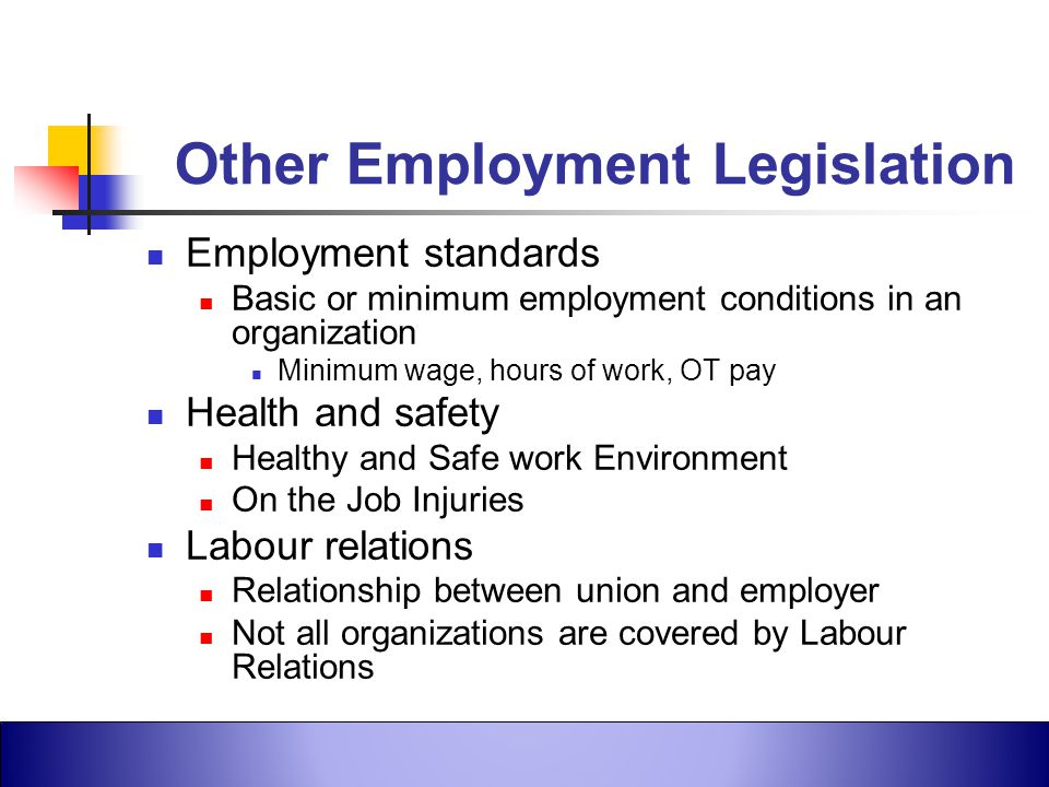 Other Employment Legislation