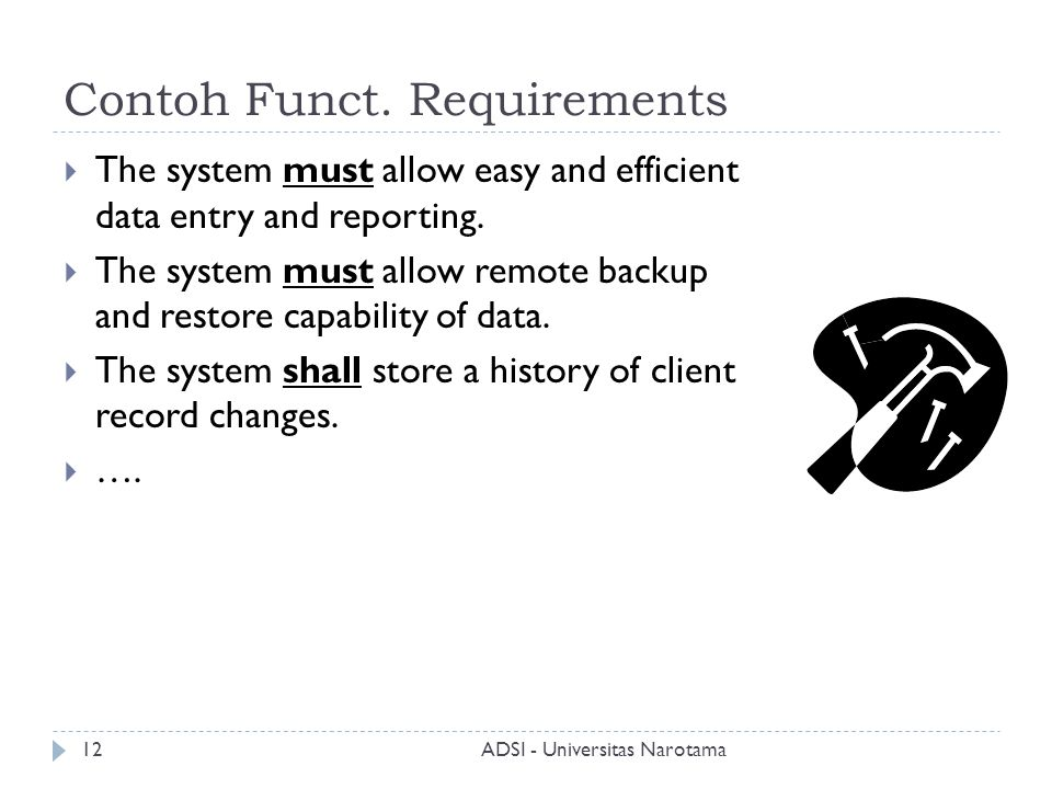 Contoh Funct. Requirements