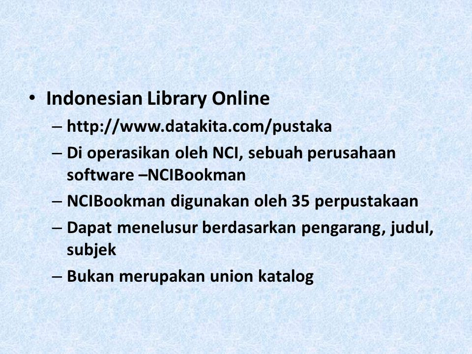 Indonesian Library Online