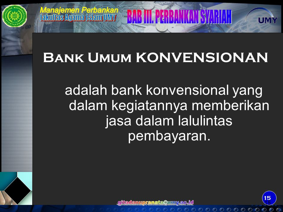 Bank Umum KONVENSIONAN