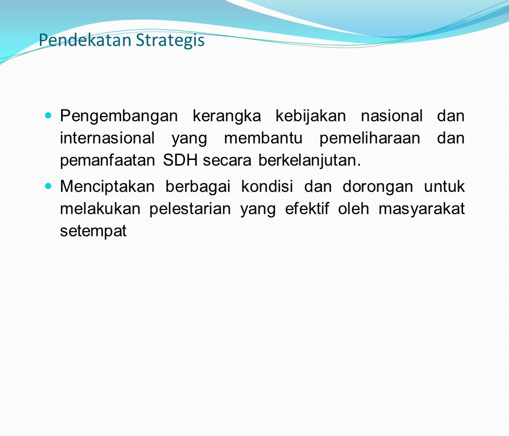 Pendekatan Strategis
