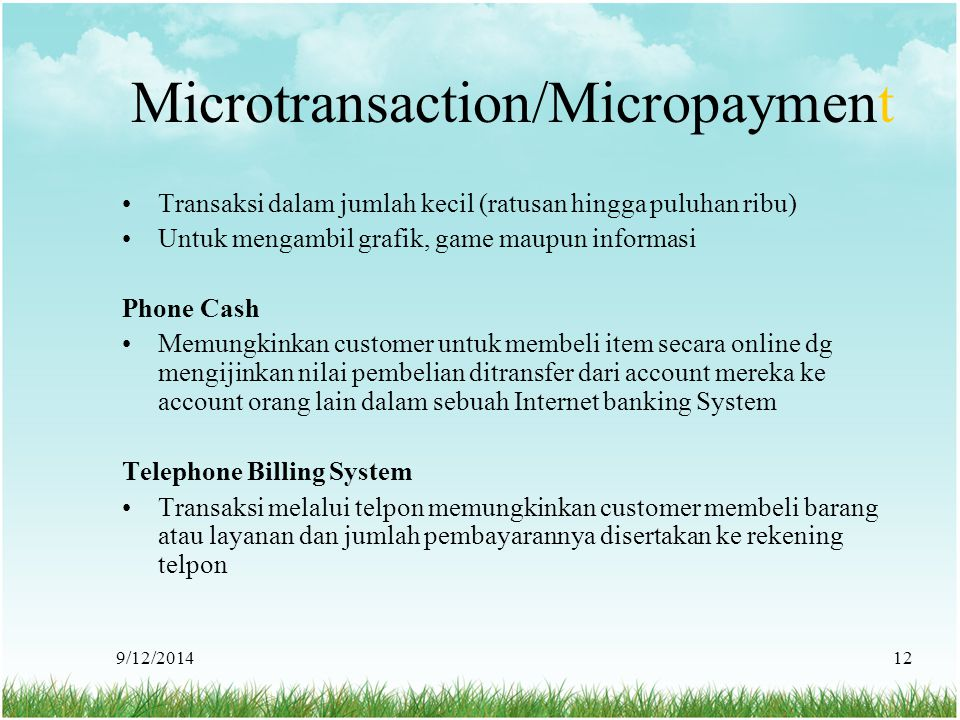 Microtransaction/Micropayment