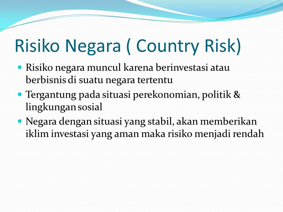 Risiko Negara ( Country Risk)