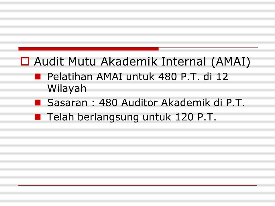 Audit Mutu Akademik Internal (AMAI)