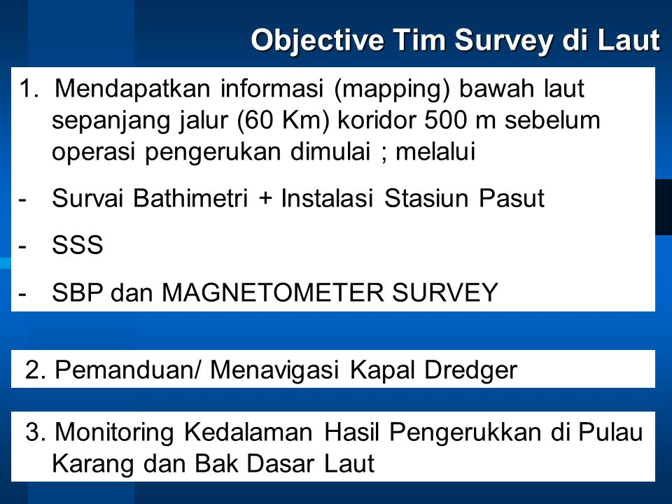 Objective Tim Survey di Laut