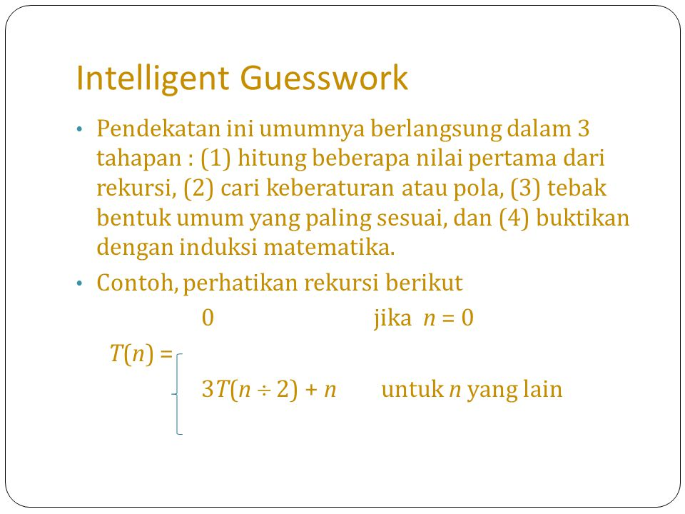 Intelligent Guesswork