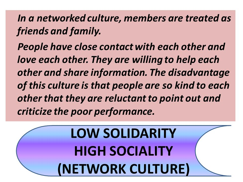 LOW SOLIDARITY HIGH SOCIALITY (NETWORK CULTURE)
