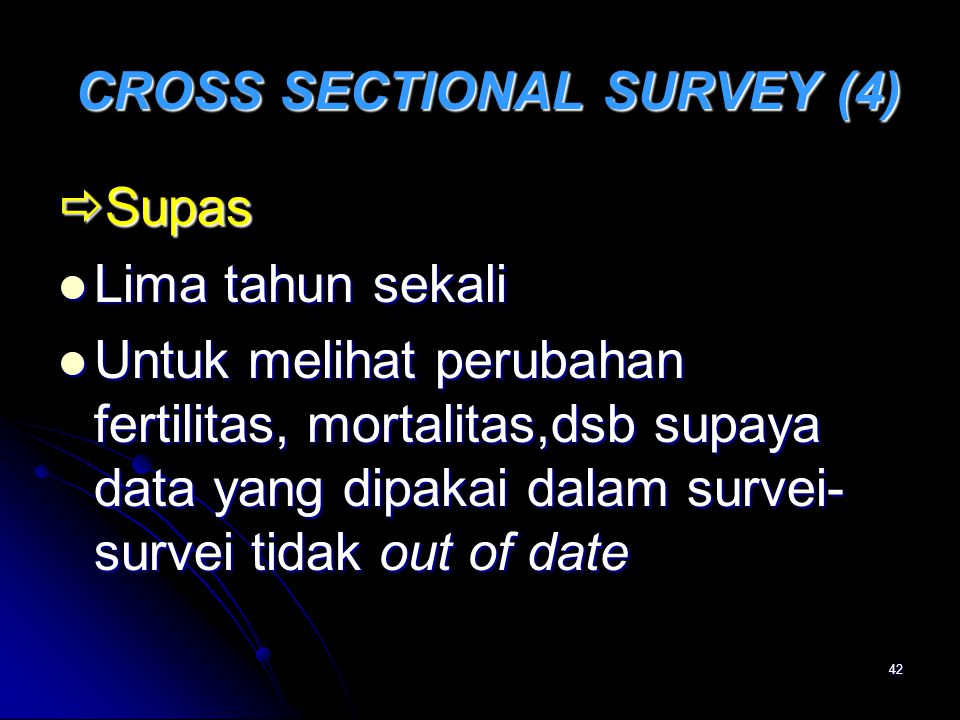 CROSS SECTIONAL SURVEY (4)