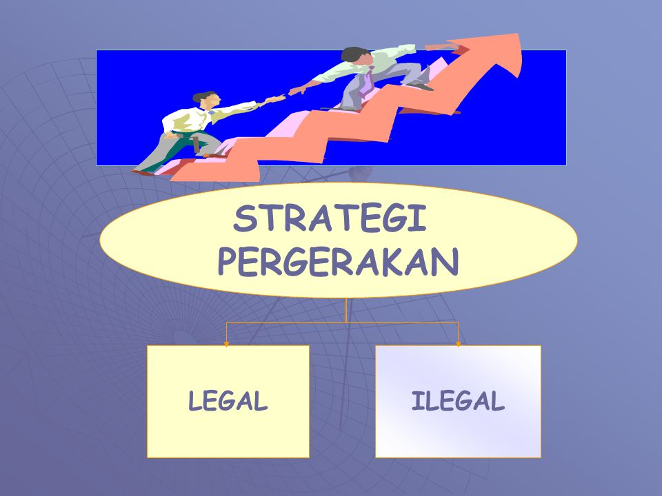 STRATEGI PERGERAKAN Cahyo BU LEGAL ILEGAL