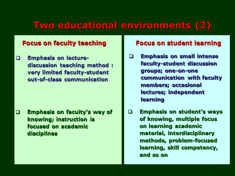 Two educational environments (2)