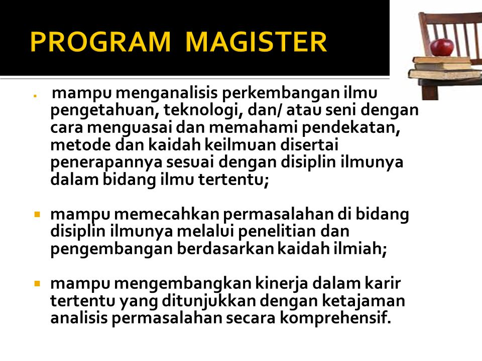 PROGRAM MAGISTER