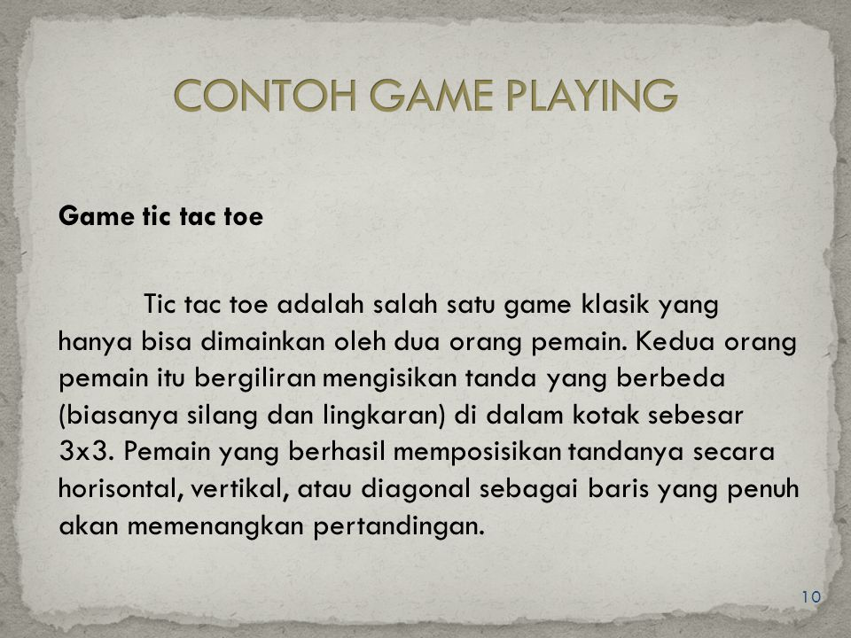 CONTOH GAME PLAYING