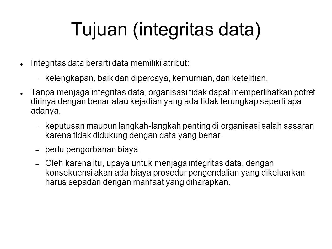 Tujuan (integritas data)‏